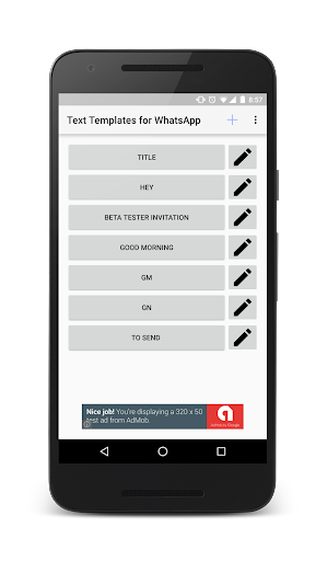 Text Templates for WhatsApp 1.0 screenshots 1