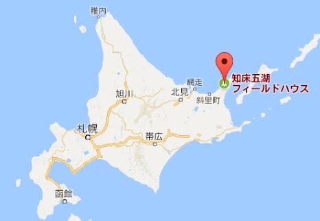 地図:知床五湖フィールドハウス