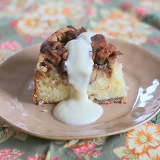 Swedish Waitress Apple Cake with Vanilla Custard.
