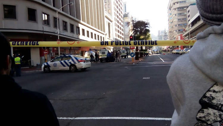 The scene of Wednesday's hostage drama in central Cape Town.