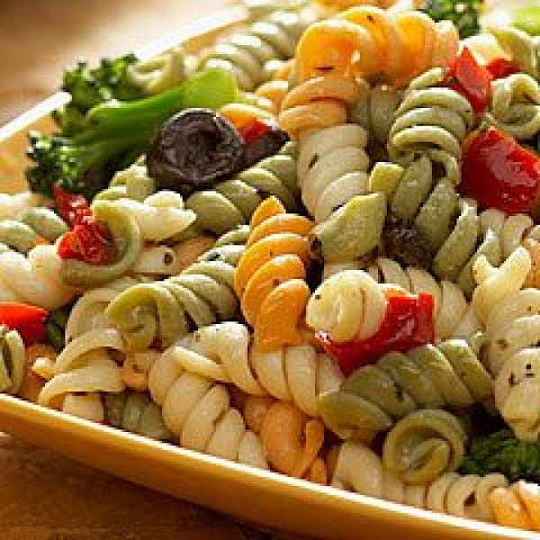 Colorful, Delicious And Nutritious!  This Ends Up Being More Veggie An Pasta Salad!  :)