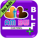Asian Men & Black Women Dating+ (AMBW Dating App) icon