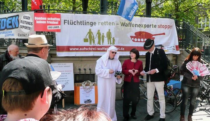 Friedensaktion gegen Rheinmetall.