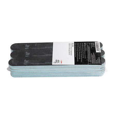 30-pack stora 2-sidiga nagelfilar 100/180, black