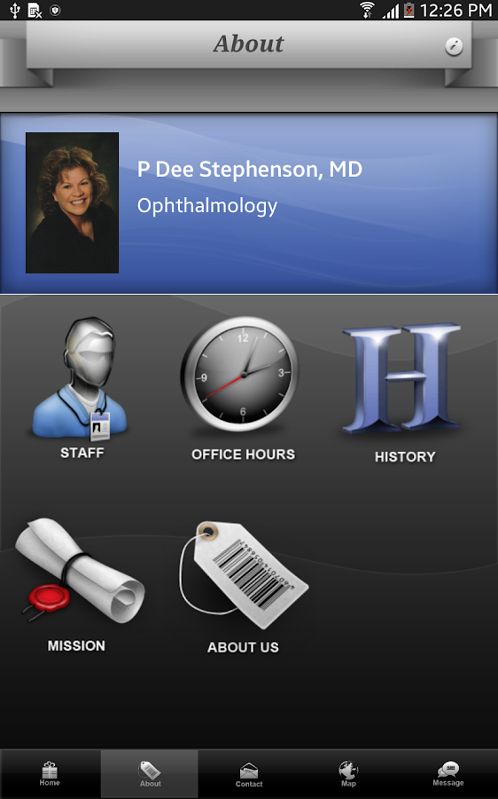 Stephenson Eye Associates- screenshot