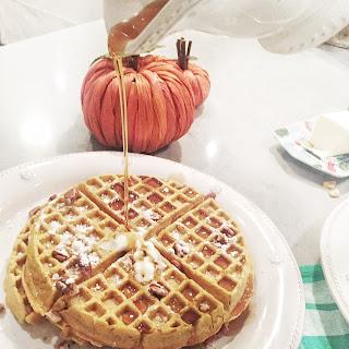 Whole Wheat Pumpkin Oat Waffles.