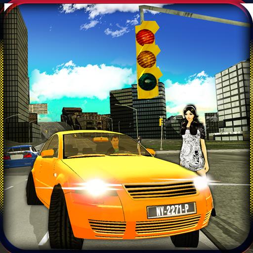 模拟のタクシー運転3Dの雪の都市 LOGO-記事Game