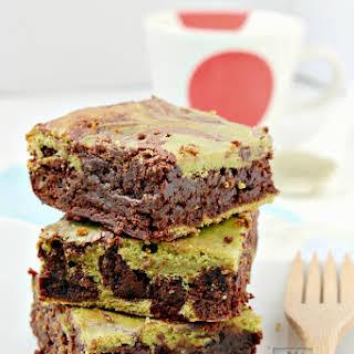 Green Tea Cream Cheese Brownies.
