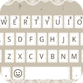 Emoji Keyboard - Lace theme