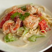 Thai Green Curry Shrimp Spaghetti (Cashew)
