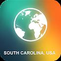 South Carolina, USA Map icon