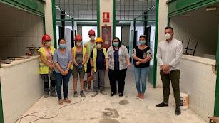 Matilde Díaz ha visitado el Mercado de Abastos que es uno de los recintos que se reformarán.