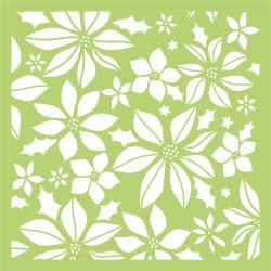 Kaisercraft Designer Template 6X6 - Poinsettia