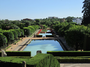 Photo: A view from the top of the fortress overlooking the beautiful gardens.