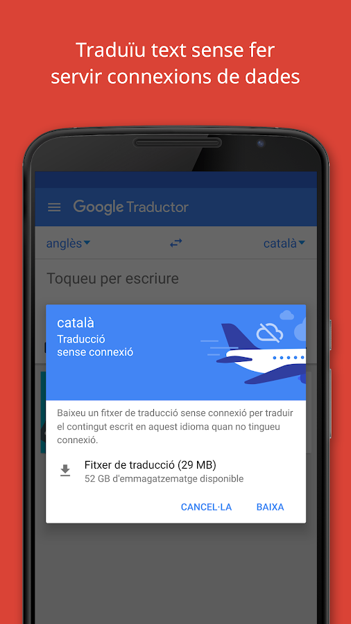 Traductor de Google: captura de pantalla