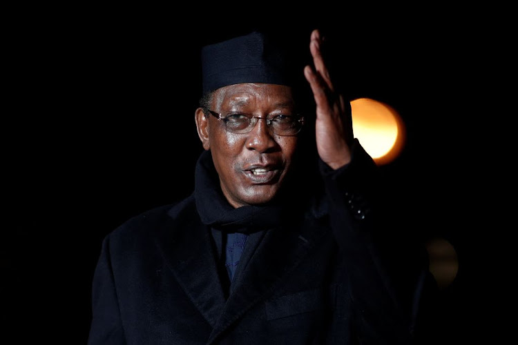 Chad's President Idriss Deby arrives to attend a visit and a dinner at the Orsay Museum on the eve of the commemoration ceremony for Armistice Day in Paris on November 10 2018.