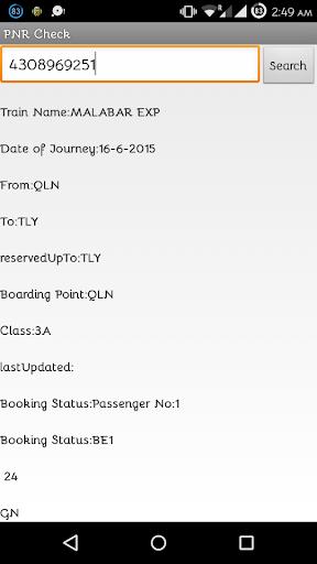 PNR Check