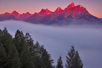 Photo: I owe a big thank you to +Dan Ballard. His great image he posted last week inspired me to revisit this image of mine. I am absolutely in love with the Tetons. This was shot from the Snake River Overlook. I didn't get to see the river till well after the sunrise but was not complaining at all! Seeing the tops of these magnificent peaks lit by the first rays of light is simply priceless.  #PlusPhotoExtract #photography #potd #FineArtPls