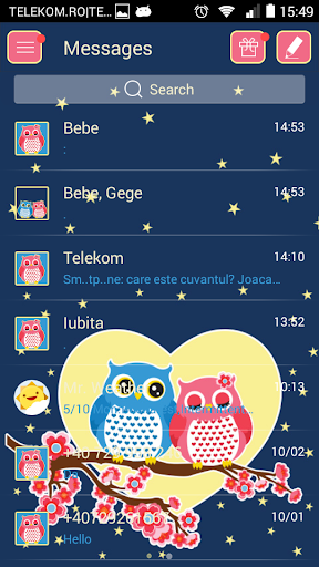 GO SMS Proのフクロウ