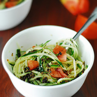 Cucumber Pasta Salad - Low Carb.