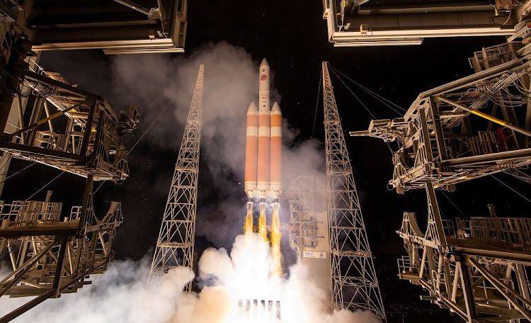 The Delta IV Heavy rocket launches Nasa's Parker Solar Probe to the sun at Cape Canaveral in Florida, the US, August 12 2018 Picture: NASA/REUTERS