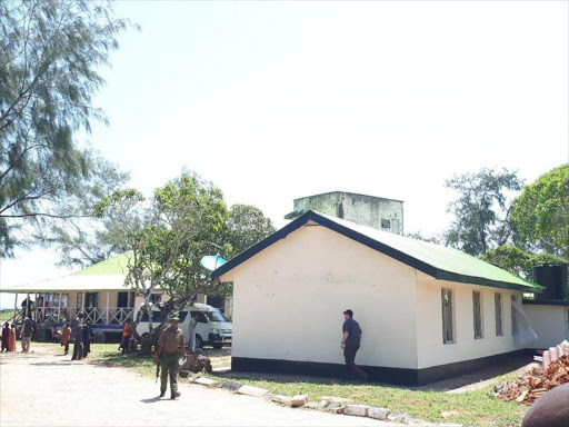 Coast Regional Police Headquarters where officers are holding 90 children found in a suspected terror cell in Likoni, December 19, 2017. /FILE