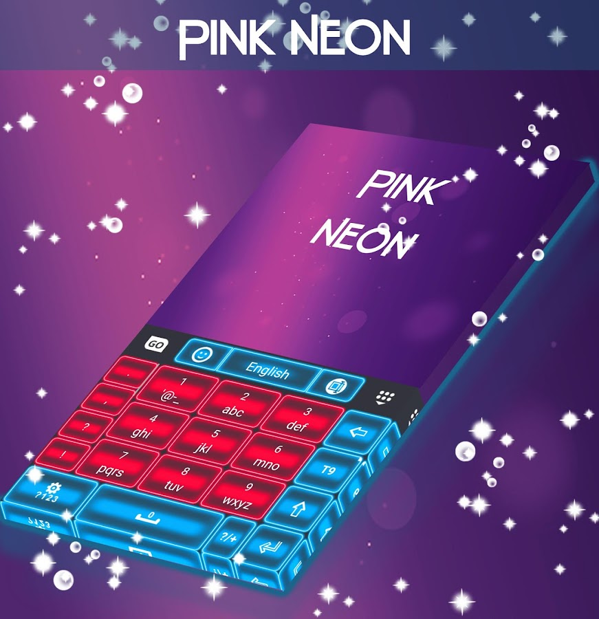 Pink Neon Keyboard GO- screenshot