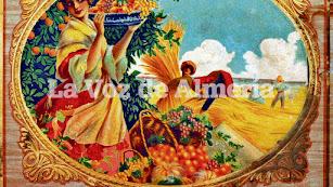 Uno de los artísticos carteles que utilizaban los comerciantes para promocionar sus negocios.