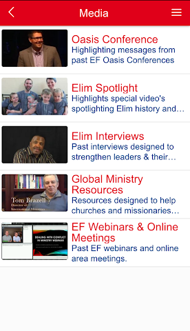 android Elim Fellowship Screenshot 1