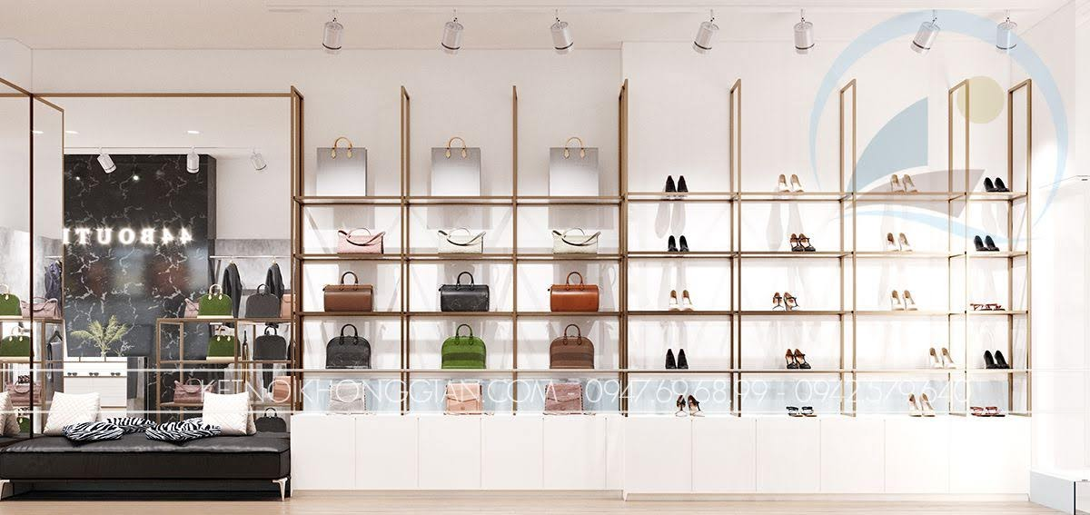 kệ trưng bày túi xách và giày