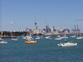Photo: From our next stop, we were able to view the city and the dominating Sky Tower.