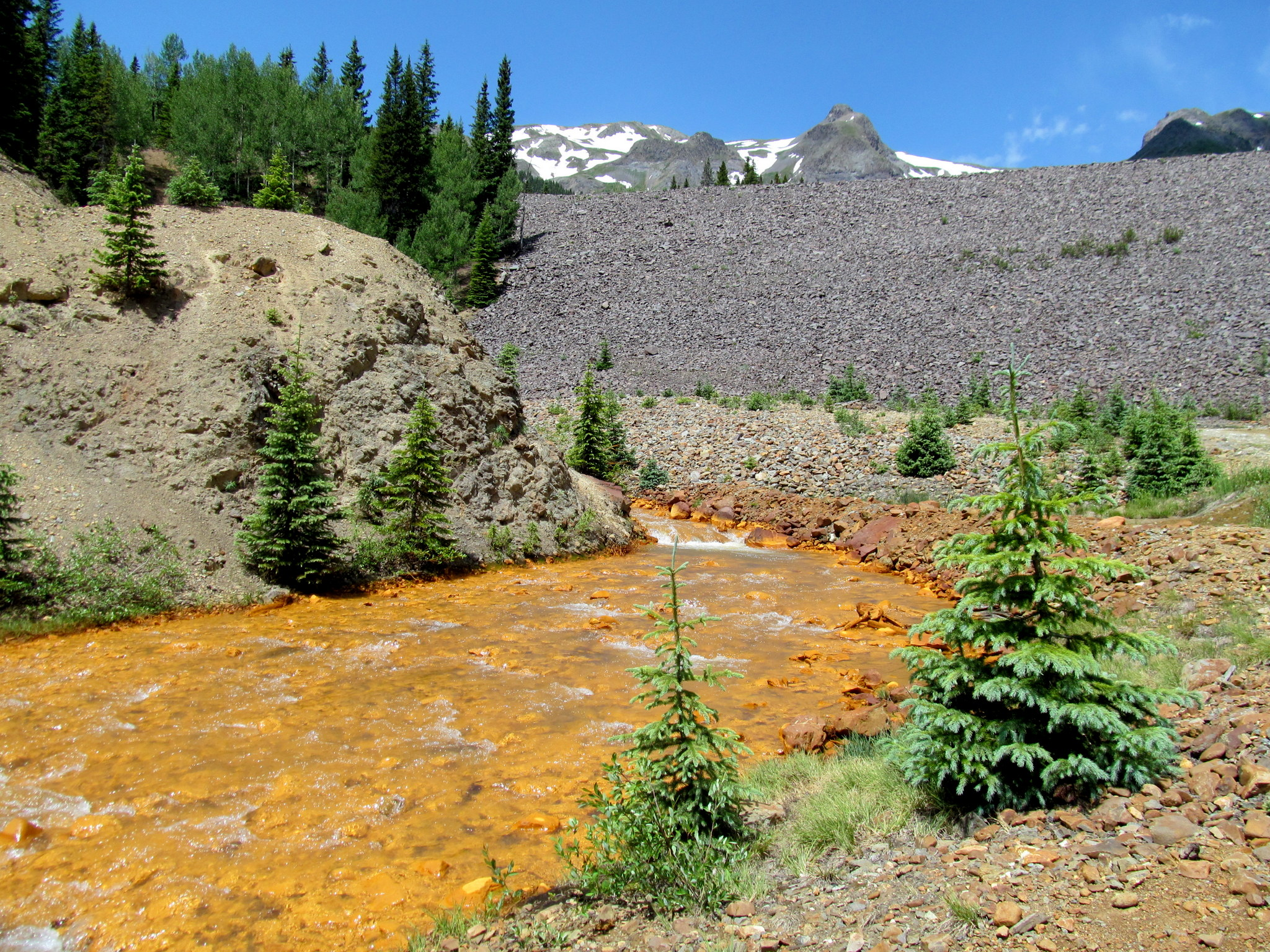 Photo: A very orange Red Mountain Creek