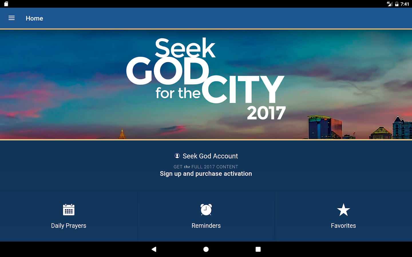 Seek God For The City 2017- screenshot