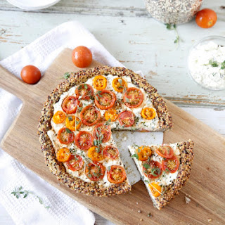 Tomato And Cottage Cheese Tart.