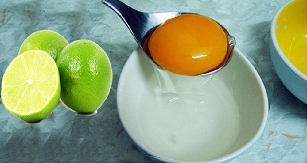 Trứng gà và chanh có tác dụng trị mụn hiệu quả