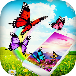 Butterfly in Phone Prank Icon