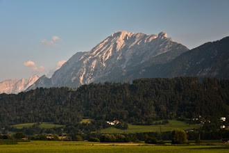 Photo: Chociaż widoczność jest słaba to i tak jestem zadowolony :)  Na zdjęciu pasmo Karwendel w widocznym najwyższym szczytem Hohe Fürleg 2570 m