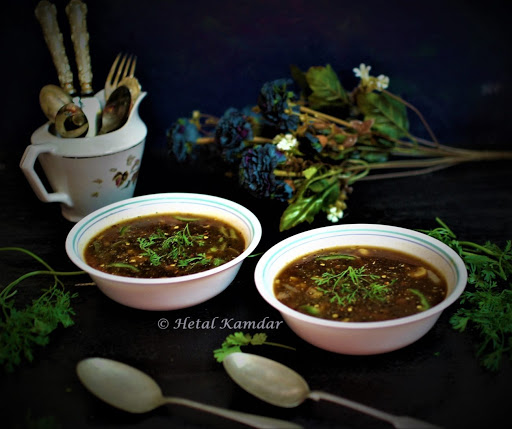 Restaurant style Hot and Sour vegetable soup