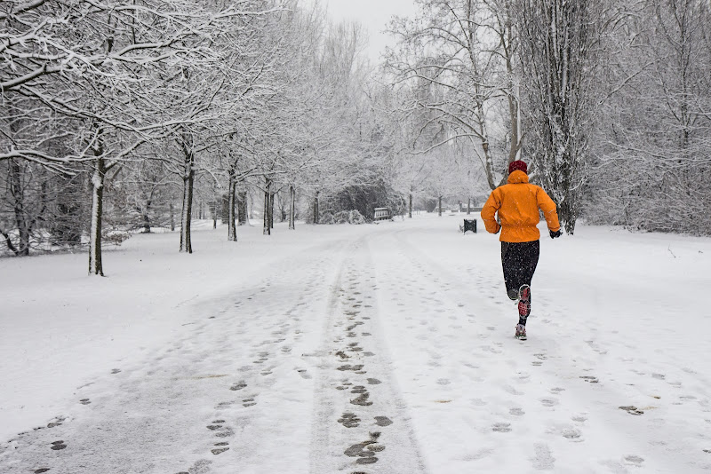 running under the snow di angelo27