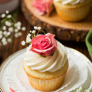 Vanilla Bean Cupcakes with Vanilla Buttercream Frosting Recipe