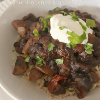 Mushroom And Black Bean Chilli