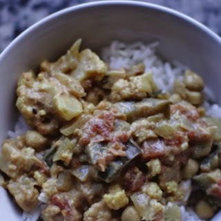 Eggplant and Cauliflower Curry