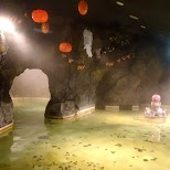 indoor cave spa at the Yunessun Water Park in Hakone, Japan in Hakone, Kanagawa, Japan