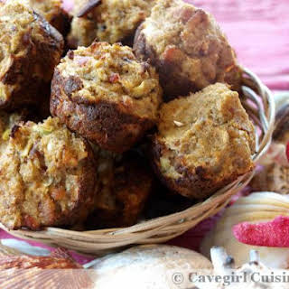 Crab and Bacon Baked Fritters (paleo).