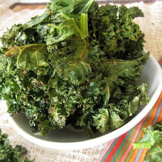 Kale Chips with Parmesan Cheese and Garlic