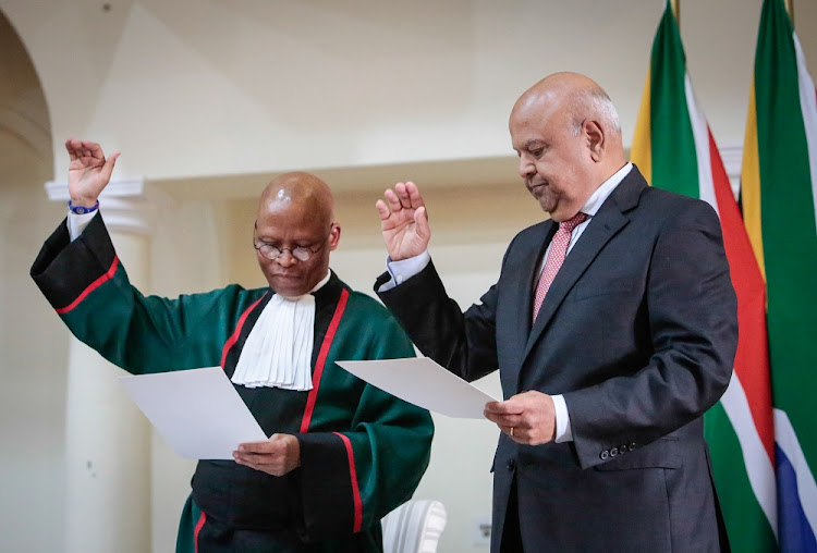 Public enterprises minister Pravin Gordhan says his reference to judge Dhaya Pillay during a meeting with chief justice Mogoeng Mogoeng was incidental. File photo.