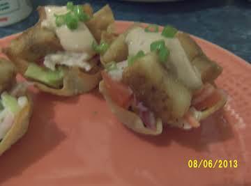 Wonton Cup Fish Tacos