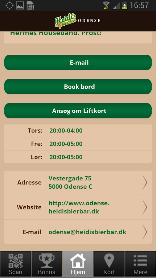Heidi's Bier Bar Odense- screenshot