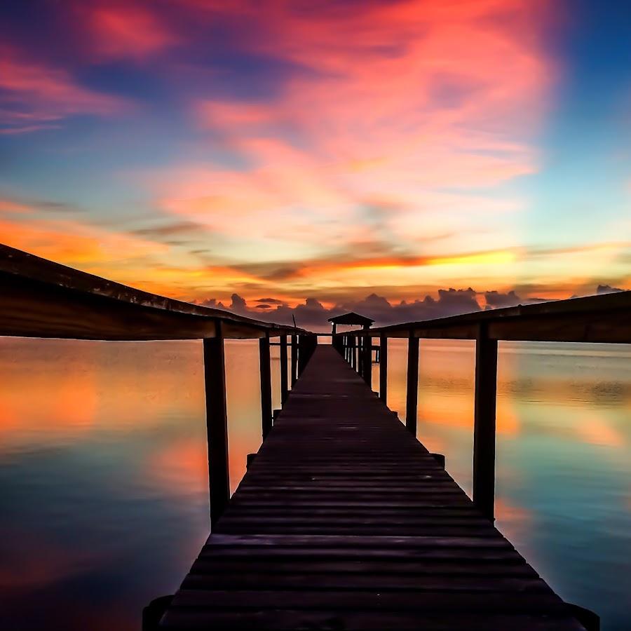 Path by Etta Cox - Instagram & Mobile iPhone ( pier sunrise water reflection cloud,  )