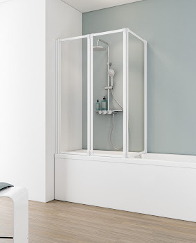 Pare baignoire, 140 cm, 3 éléments, D1420